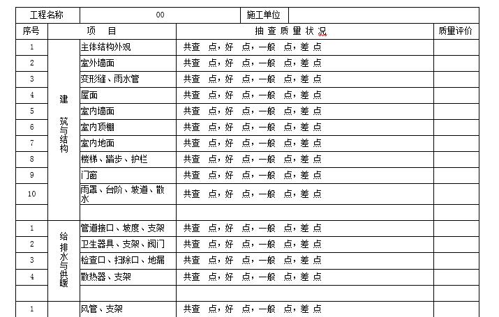 全套最新GB50300-2013配套表格全套(检验批质量验收记录)汇总