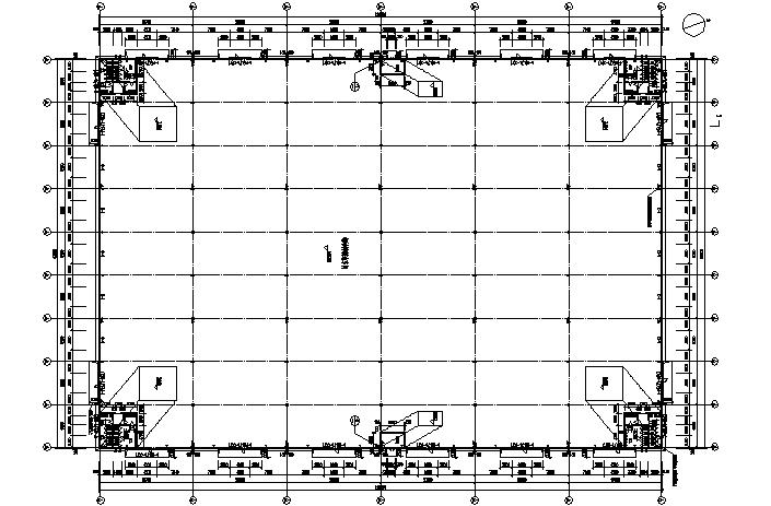 66×83m门式刚架钢结构厂房施工图(CAD,7张)