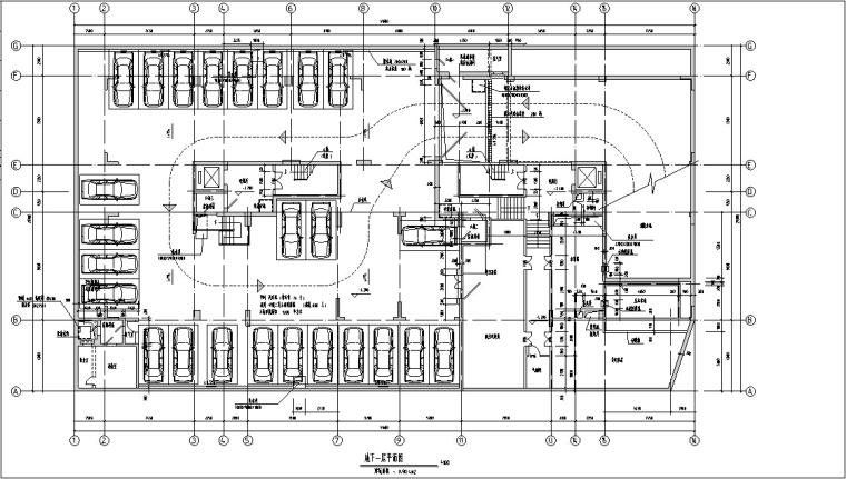 现代高层商住楼建筑设计方案初设图CAD-7