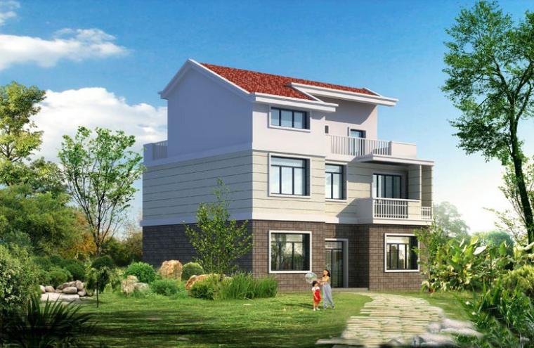 三层新农村单家独院式别墅设计方案