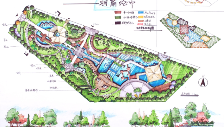 公园类快题手绘设计方案30张