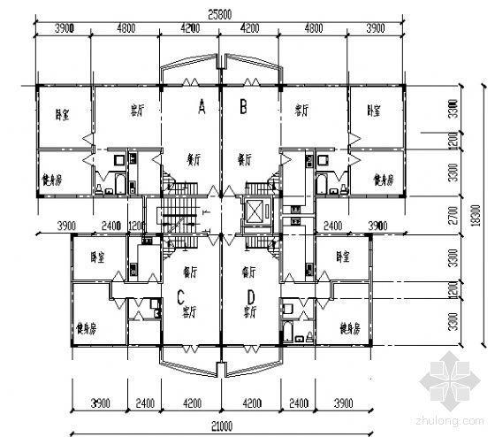 遵义市外环路沙河区修建性规划住宅楼方案图2-3