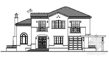 某二层别墅建筑方案图(带地下室)