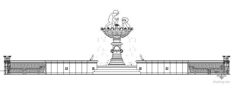 欧式水钵喷泉施工详图