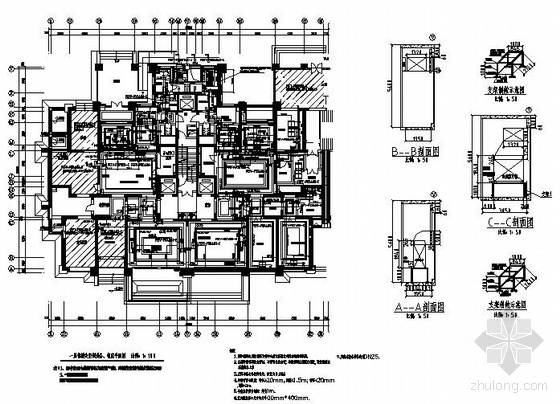 VRV空调设计图资料下载-某售楼处VRV空调设计图