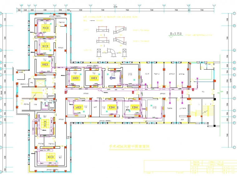 [湖南]医院手术室空调通风系统设计施工图(设备机房)
