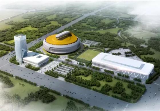 哈尔滨投资18亿奥体中心开建,工期约两年!
