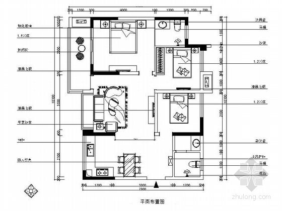 [重庆]核心地段现代港式三居室样板间装修图(含效果)