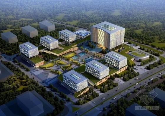 [深圳]现代风格大型城市广场建筑设计方案文本