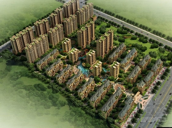 [江西]新古典住宅区规划及单体设计方案文本