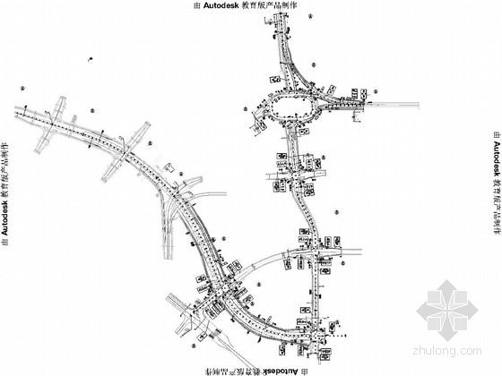[广东]互通立交市政道路衔接工程交通安全设施设计图39张