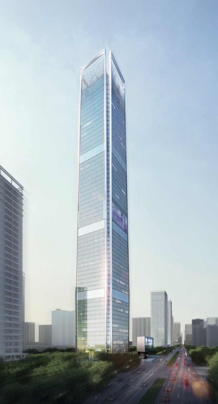 广州珠江新城CBD新地标——广发证券大厦主体结构封顶