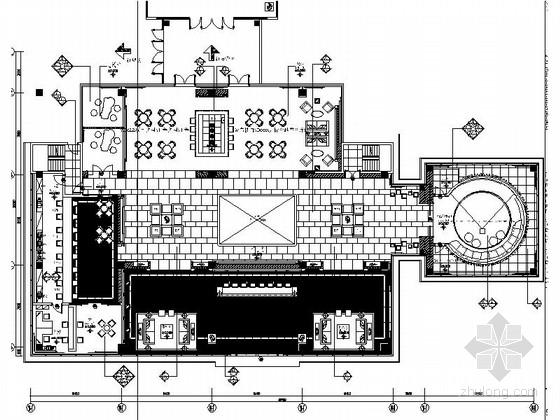 [西安]欧式高端华丽售楼部装修施工图(含方案文本及效果图)