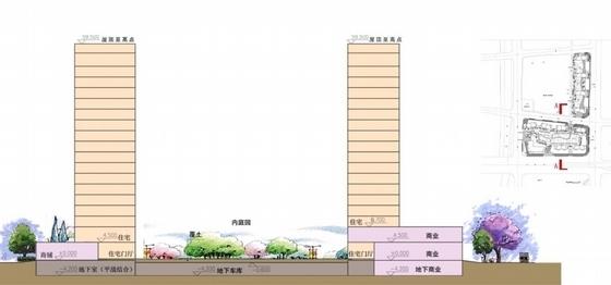 artdeco风格住宅安置小区剖面图
