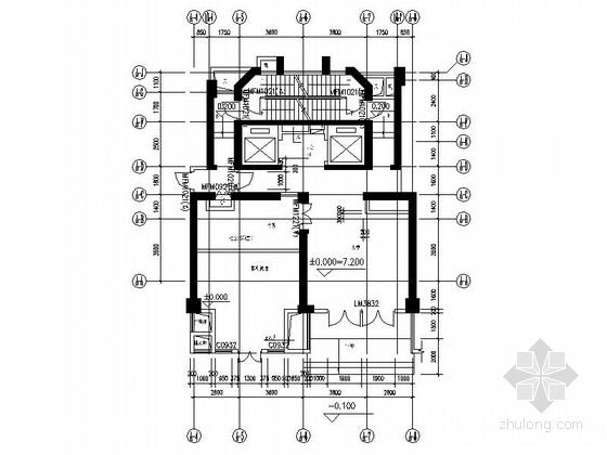 [厦门]金融中心高档商住小区首层住户大堂及电梯间装修施工图(含效果)