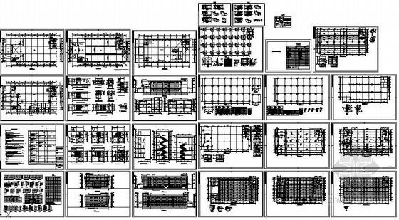 某多层混凝土框架厂房结构设计图