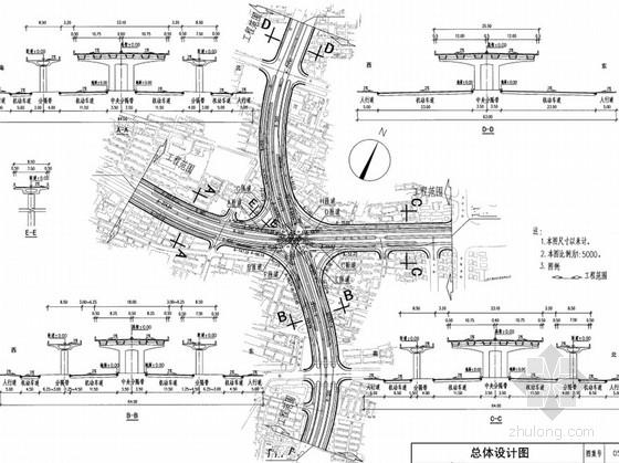 城市道路立体交叉施工图设计