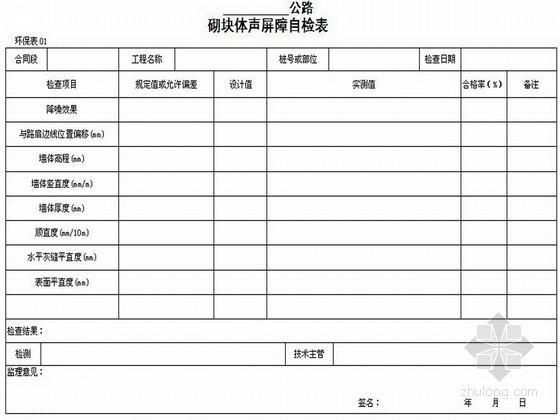 [陕西]公路建设工程施工用表(路桥隧、试验施管)