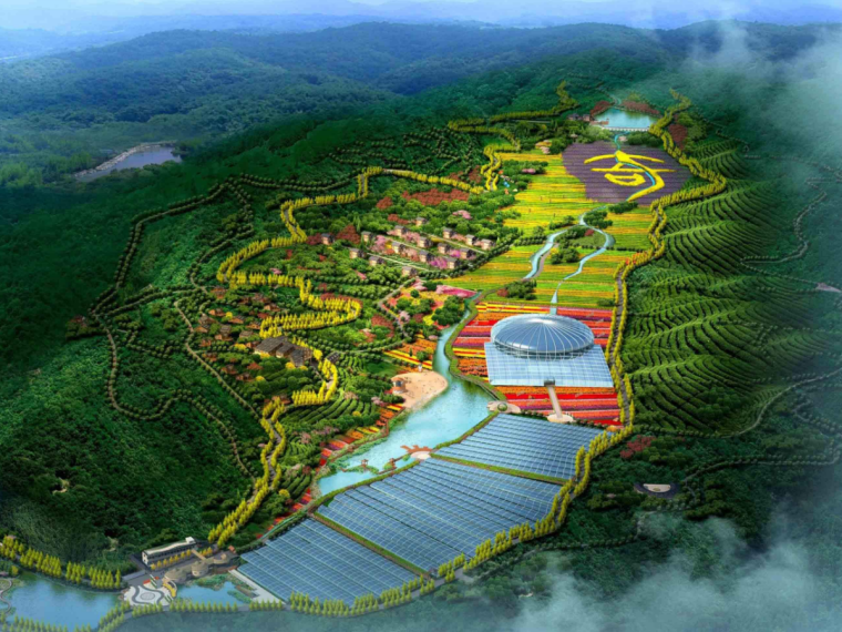生态休闲区建设工程施工图预算(含图纸,计算书)