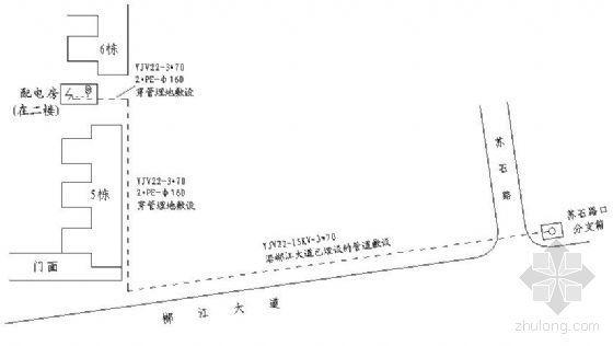 湖南某小区电气设计图纸及预算