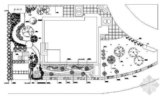 别墅植物造景设计平面图