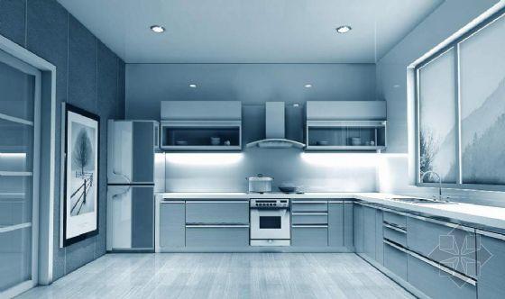 vr建筑渲染教程资料下载-居室厨房