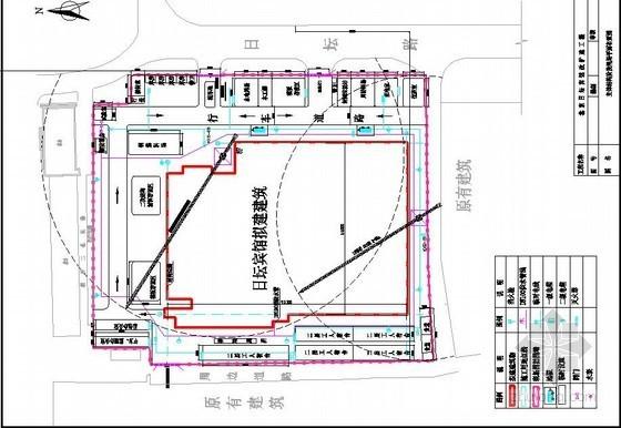 [北京]宾馆改扩建工程主体结构及装饰装修阶段平面布置图