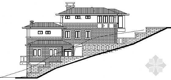某山体别墅建筑施工图
