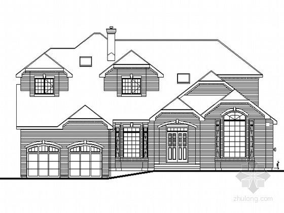 [嘉定区]某二层木别墅建筑施工图
