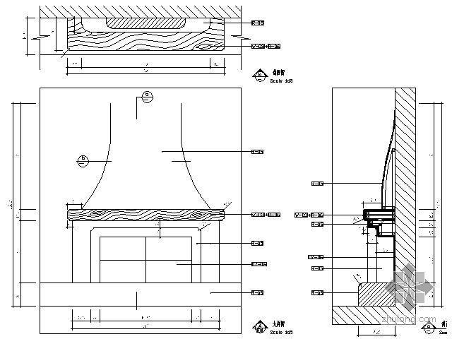 壁炉详图Ⅱ