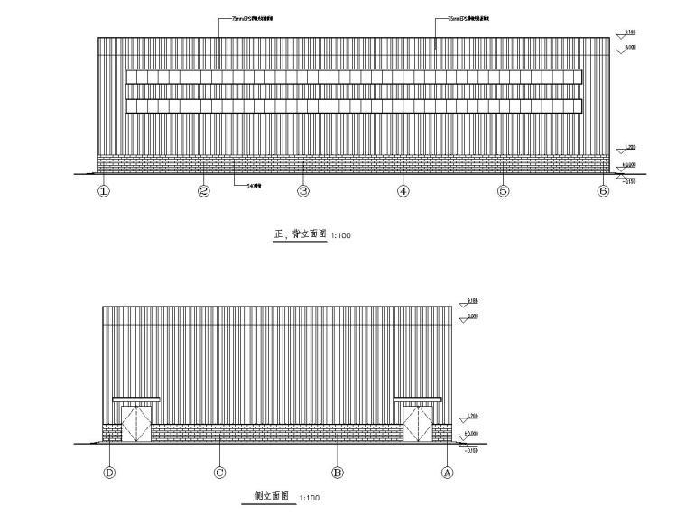 小型公司室内钢结构篮球场的钢结构安装图纸