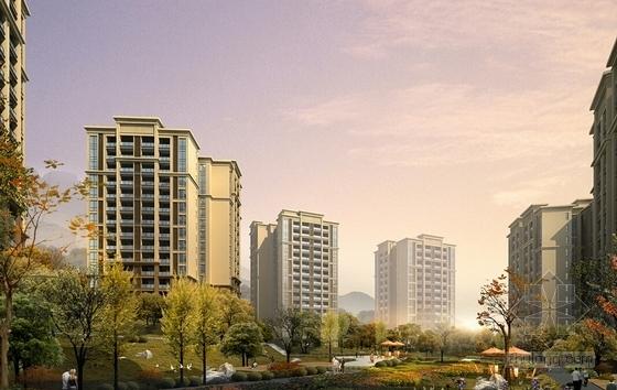 古典风格住宅小区规划设计方案效果图