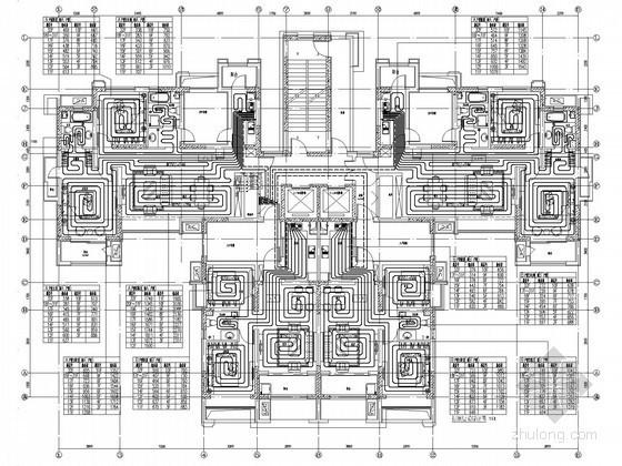 [山东]高层住宅区采暖通风设计施工图(含负荷计算书)