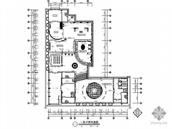 某城市规划展览馆室内装饰施工图