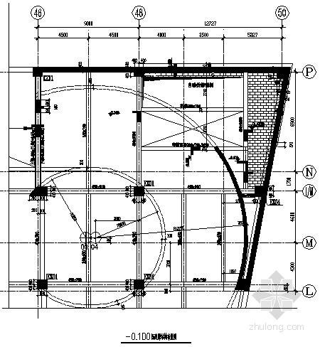 [沈阳]广场钢框架-中心支撑加建楼梯结构施工图