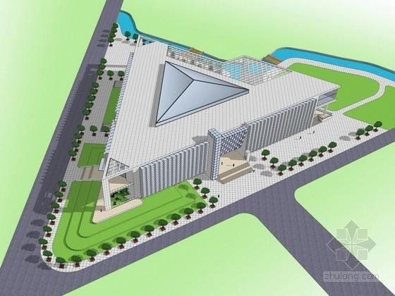 [山东]3层现代风格图书馆建筑设计方案文本(含CAD)