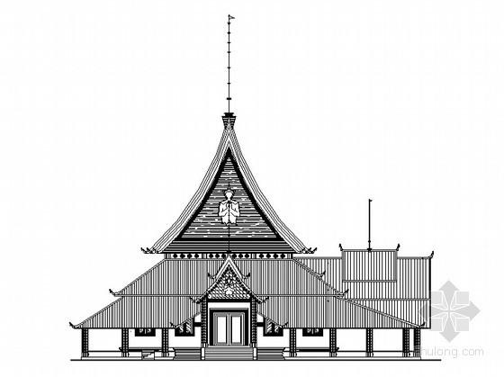 [景洪市]某村龙社建筑施工图