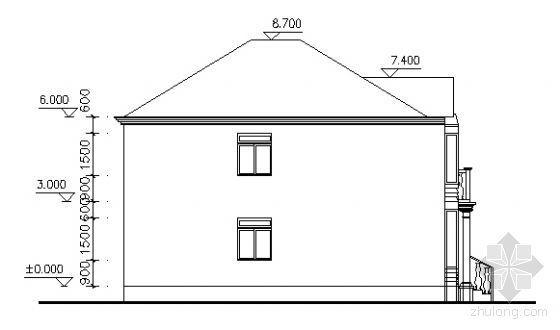 某二层别墅建筑方案图-2