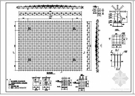 某钢网架加油站结构设计图