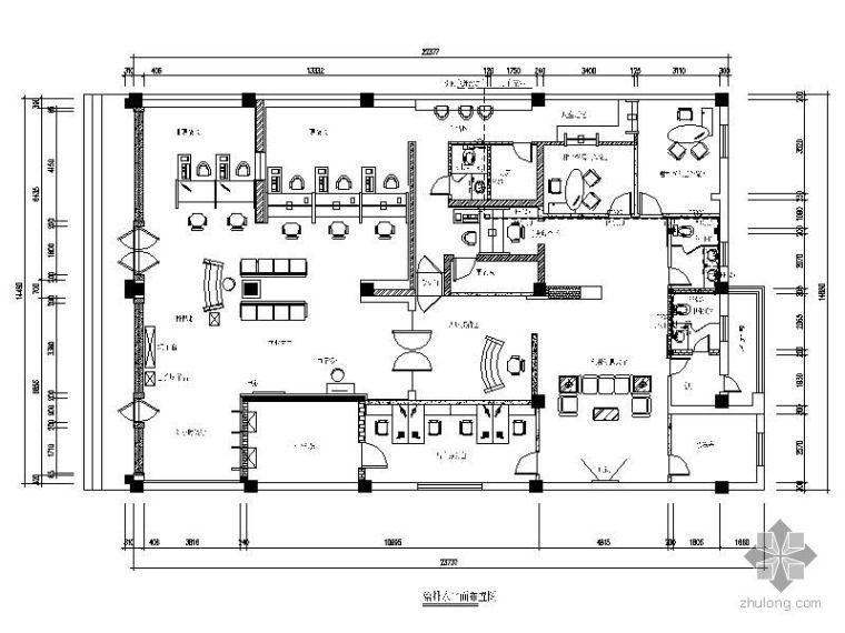 [济南]中国工商银行某支行营业厅室内装修平面图_3