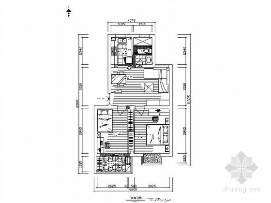 精致现代风格两居室装修图(含实景图及效果图)