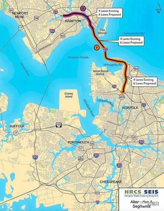 热点追踪|弗吉尼亚第三条!美国新汉普顿路隧道建设方案提交_4