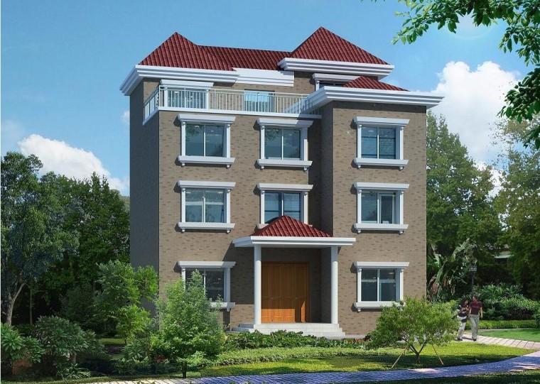 四层新农村单家独院式别墅130平方米户型设计施工图(造价29万))
