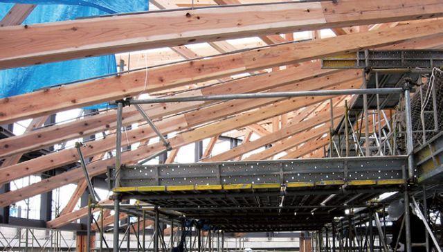 直径44m的半圆形和伞构造支撑起多雪地区的屋顶_17