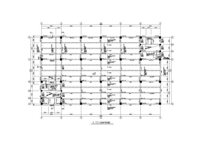 5层生物医药生产车间结构施工图_框架结构