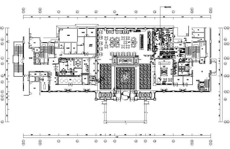 平顶山建国迎宾馆施工图设计+效果图