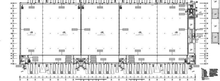 江西仓储物流园区仓库全套施工图