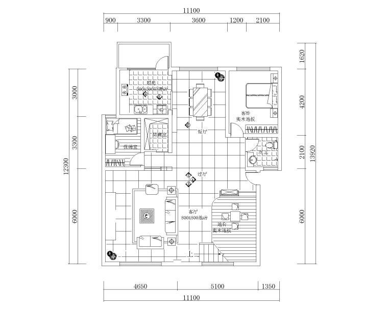 施工图 图纸格式:jpg,cad2000           本资料为跃层户型装修设计