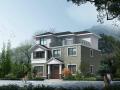 新农村3层独栋别墅建筑施工图(含CAD及效果图)