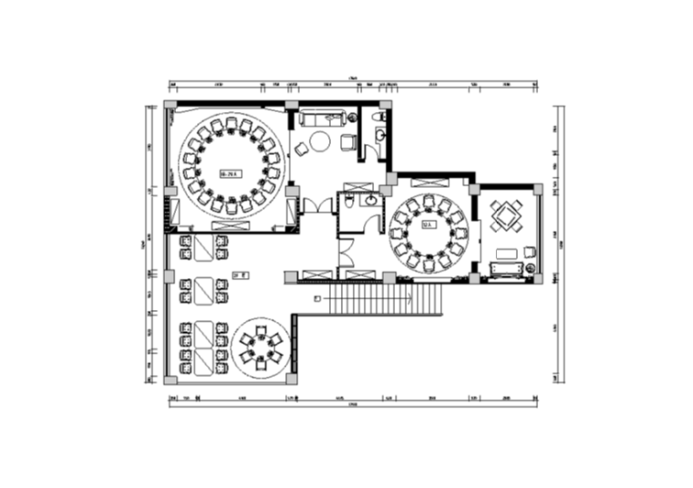 漫生活音乐餐厅室内装修设计施工图及效果图